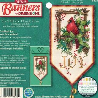 """Banners Cardinal Joy Mini Counted Cross Stitch Kit-10"""" Long"""