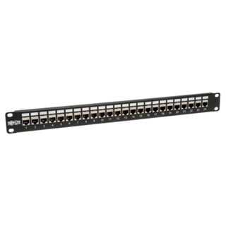 Tripp Lite 24-Port Shielded Cat6 Patch Panel Feed Through Rackmount R