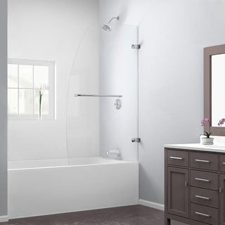 DreamLine Aqua Uno 34x58-inch Single Panel Hinged Tub Door in Brushed Nickel