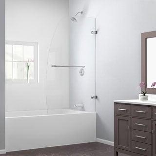 DreamLine Aqua Uno 34x58-inch Single Panel Hinged Tub Door in Brushed Nickel