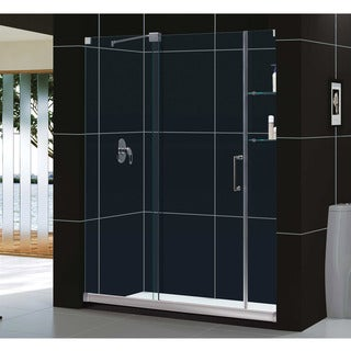 DreamLine Mirage Frameless 56-60-Inch x 72-Inch Glass Sliding Shower Door