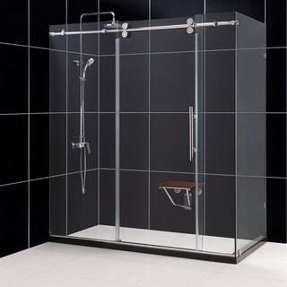 DreamLine Enigma 36x72.5x79-inch Fully Frameless Sliding Shower Enclosure