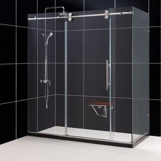 DreamLine Enigma 36x72.5x79-inch Fully Frameless Sliding Shower Enclosure