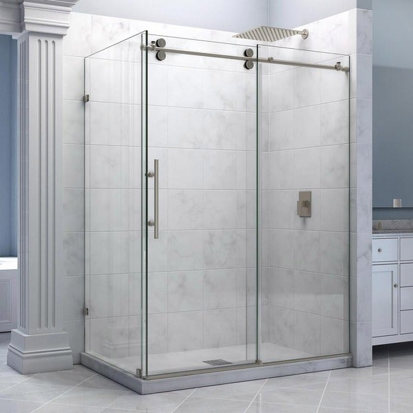 Enigma X 34 5 X Inches Fully Frameless Sliding Shower Enclosure