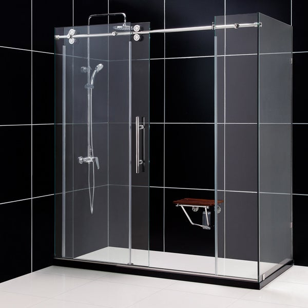 DreamLine Enigma 36x72.5x79-inch, 0.5-inch Glass, Fully Frameless Sliding Shower Enclosure