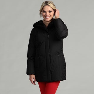 Larry Levine Black Nylon Down-filled Jacket