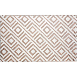 b.b.begonia Malibu Reversible Design Beige and White Outdoor Area Rug (4' x 6')