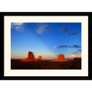 Andy Magee 'Monument Valley Sunset' Medium Framed Art Print