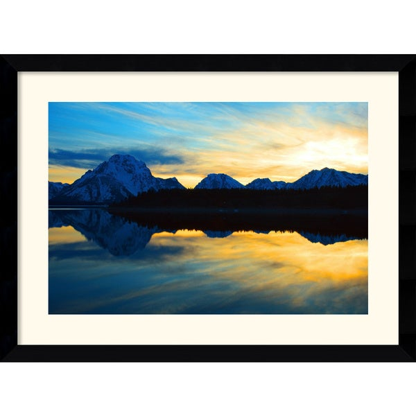 Andy Magee 'Teton Sunset' Medium Framed Art Print