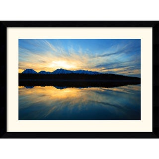 Andy Magee 'Sunset on Jackson Lake' Single-Border Framed Art Print