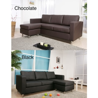 Exquisite Leather Bonded Interchangeable Sectional Sofa with Ottoman
