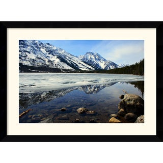 "28.62"" X 38.62"" Andy Magee 'Grand Tetons at Jenny Lake' Framed Art Print"