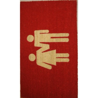 Cocoa Matting 'Family' Red Door Mat (18 x 30)