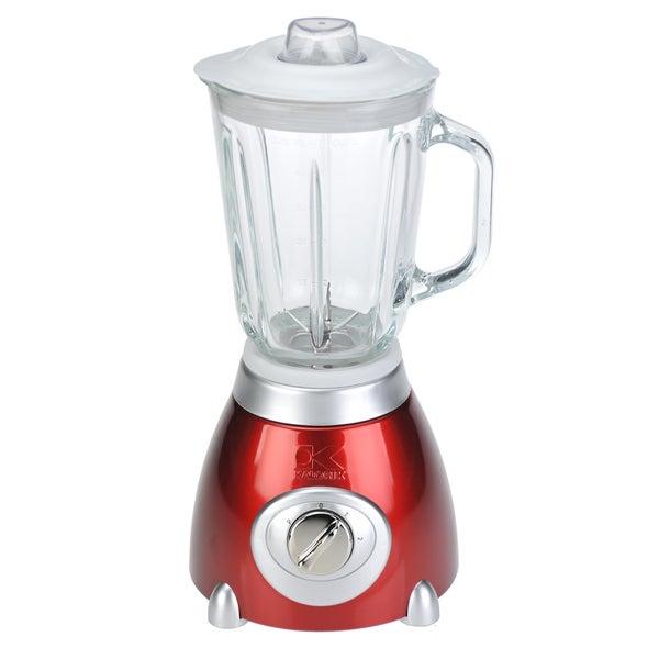 Kalorik Candy Apple Red Blender with Glass Jar (Refurbished)