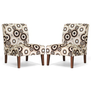 Davis Tan Circles Accent Chairs (Set of 2)