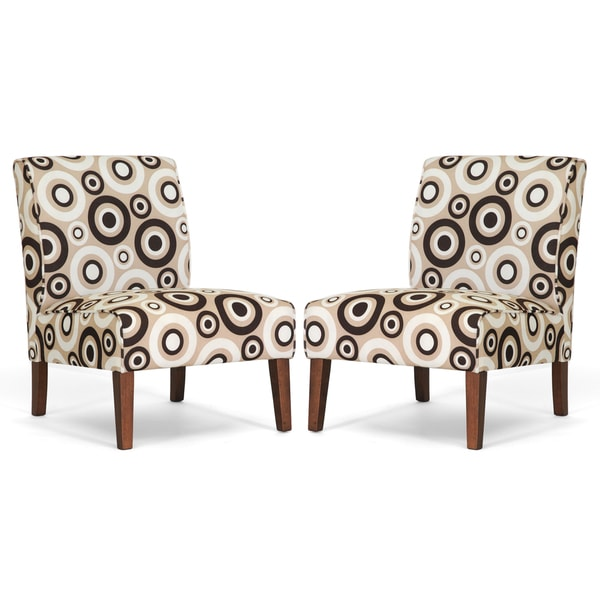 Davis Tan Circles Accent Chairs Set of 2