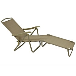 Wicker Lane Beige Folding Patio Loungers (Set of 4)