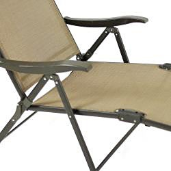 Wicker Lane Brown Folding Patio Loungers (Set of 4)