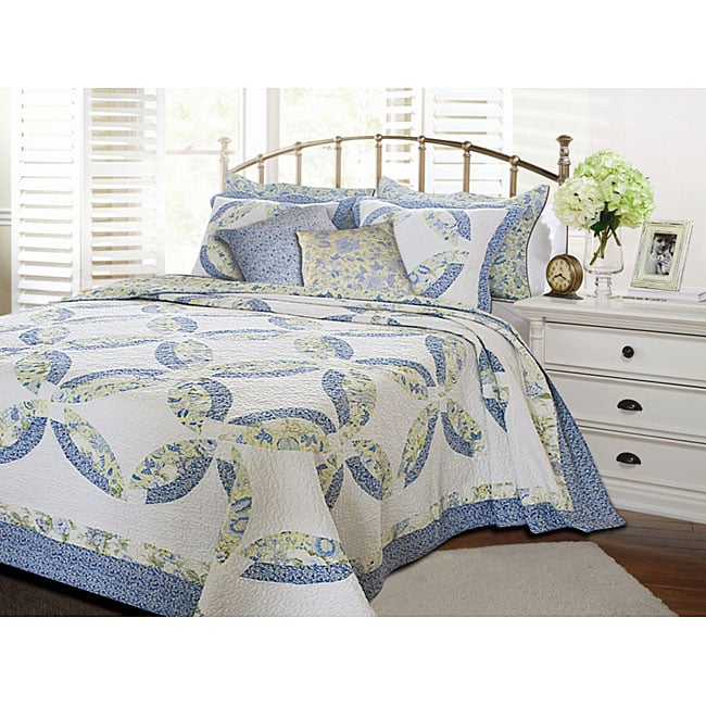 Greenland Home Fashions Francesca Quilt 5-piece Bonus Set