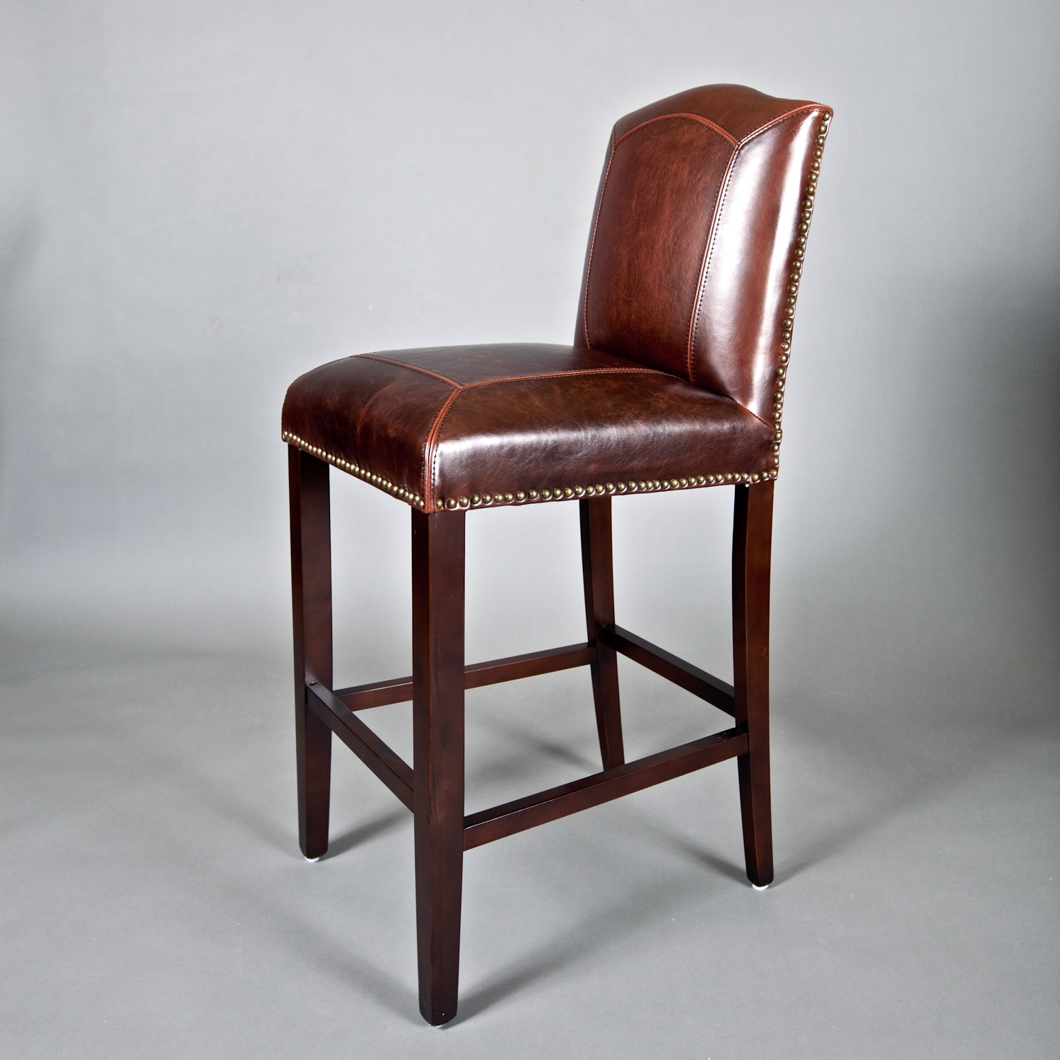 Monroe Leather Bar Stool   Overstock Shopping   Great ...