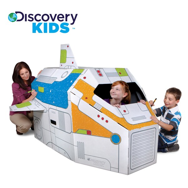 Discovery Kids Cardboard Color and Play Rocketship