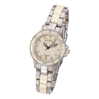 Stuhrling Original Women's 'Astera' Water-Resistant Stainless-Steel Link Bracelet Watch