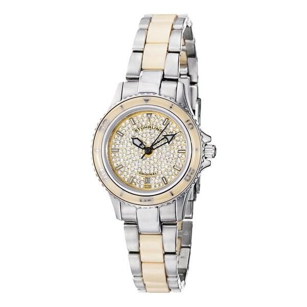 Stuhrling Original Women's 'Astera' Water-Resistant Stainless-Steel Link Bracelet Watch