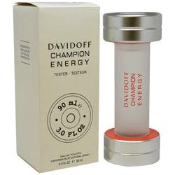 Davidoff Champion Energy Men's 3-ounce Eau de Toilette Spray (Tester)