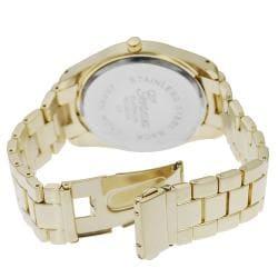 Geneva Platinum Women's Rhinestone Cheetah Print Link Watch