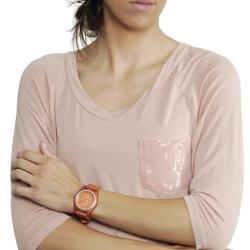 Geneva Platinum Women's Rhinestone Water-Resistant Chronograph Silicone Watch
