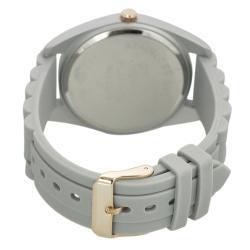 Geneva Platinum Women's Rhinestone Stainless-Steel Chronograph Silicone Watch