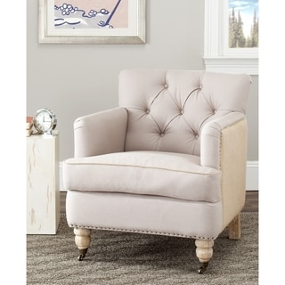 Safavieh Manchester Two-toned Linen/ Jute Beige Club Chair