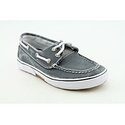 Sperry Top Sider Boys Halyard Blue/Navy Blue Casual Canvas Shoes