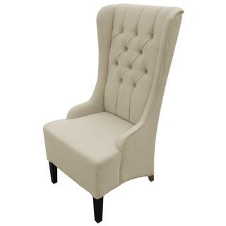 Vincent Beige Linen Modern Accent Chair