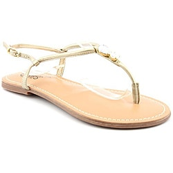 Carlos Santana Women's Bare Gold Sandals