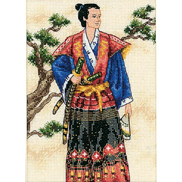 "Gold Collection Petite The Samurai Counted Cross Stitch Kit-5""X7"""