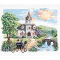 Country Church Stamped Cross Stitch Kit-14