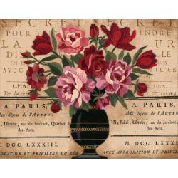 "Parisian Bouquet Crewel Kit-14""X11"" Stitched In Wool & Thread"