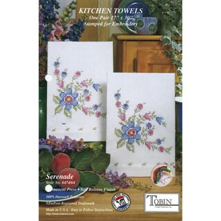 Tobin 'Serenade' Stamped Kitchen Towels for Embroidery (Two/Pkg)