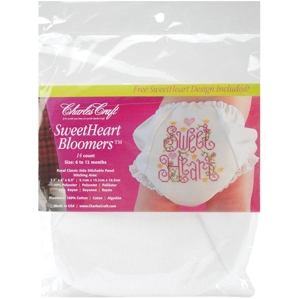 Sweetheart Bloomers Size 6-12 Months-White