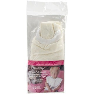 "Pullover Velour Toddler Bib 12""X11-1/2""-Ecru"
