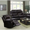 Rotunda Black Leather Reclning Loveseat/ Chair Set
