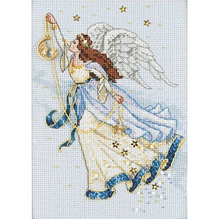 "Gold Collection Petite Twilight Angel Counted Cross Stitch K-5""X7"""