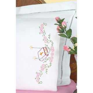 Stamped Pillowcases With White Perle Edge 2/Pkg-Bible