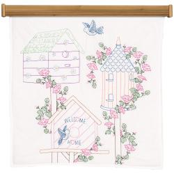 Stamped White Wall Or Lap Quilt 36