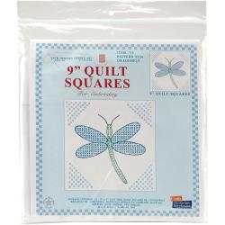 Stamped White Quilt Blocks 9