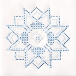 "Stamped White Quilt Blocks 9""X9"" 12/Pkg-XXX Stars"