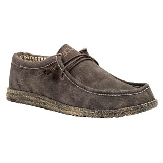 Hey Dude Men's Wally Brown Casual Shoes