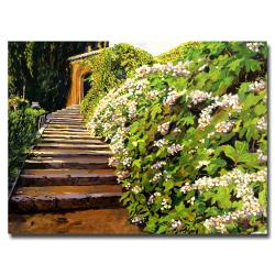 David Glover 'Garden Stairway Tuscany' Canvas Art