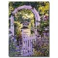 David Glover 'Country Garden Gate' Canvas Art